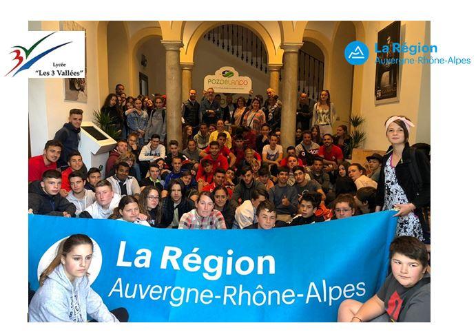 L'ensemble des jeunes partis en mobilité ont été reçus par la mairie de Pozoblanco